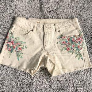Cream Jean Shorts